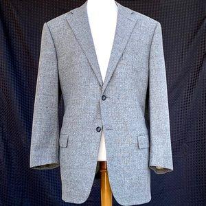 Corneliani Wool/Cashmere Grey Windowpane Blazer